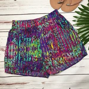 {Everly} sz S watercolor pocketed shorts